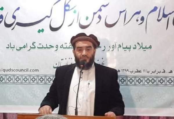 سخنرانی مولوی محمد مختار مفلح به مناسبت سی و چهارمین کنفرانس وحدت اسلامی تحت عنوان: (جهان شمولی اسلام و هراس دشمن از شکل گیری قدرت اسلامی)