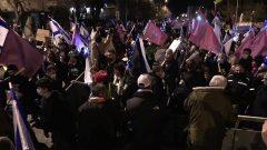 تجمع معترضان اسرائیلی در مقابل خانه نتانیاهو