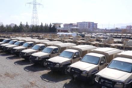 امریکا ۶۳۹ واسطه نظامی را به ارتش افغانستان تحویل داد