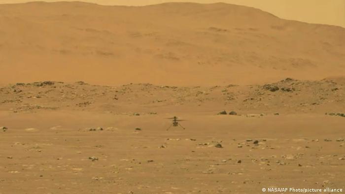 گردش هوایی بالگرد ناسا بر فراز مریخ