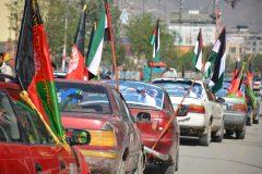 ما کوچکترین ظلمی را نمی پذیریم و بر علیه ظالم قیام می کنیم/رژه جوانان در جاده های کابل با شعار «قدس ما می آییم»