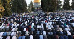 حضور ۲۵ هزار فلسطینی در نماز جمعه مسجد الاقصی